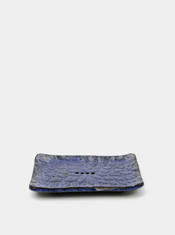 Modrá keramická miska na mydlo Almara Soap Kapky