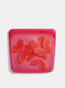 Ružový silikónový sáčok na potraviny Stasher Sandwich 450 ml