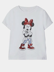 Biele dievčenské tričko name it Minnie