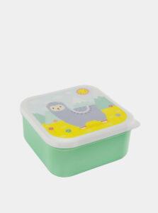 Zelený desiatový box Sass & Belle
