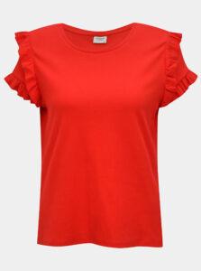 Červené tričko s volánmi Jacqueline de Yong Fappa