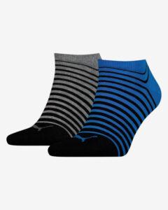 Puma Ponožky 2 páry Modrá Šedá Viacfarebná