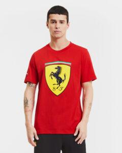 Puma Ferrari Race Big Shield+ Tričko Červená Žltá