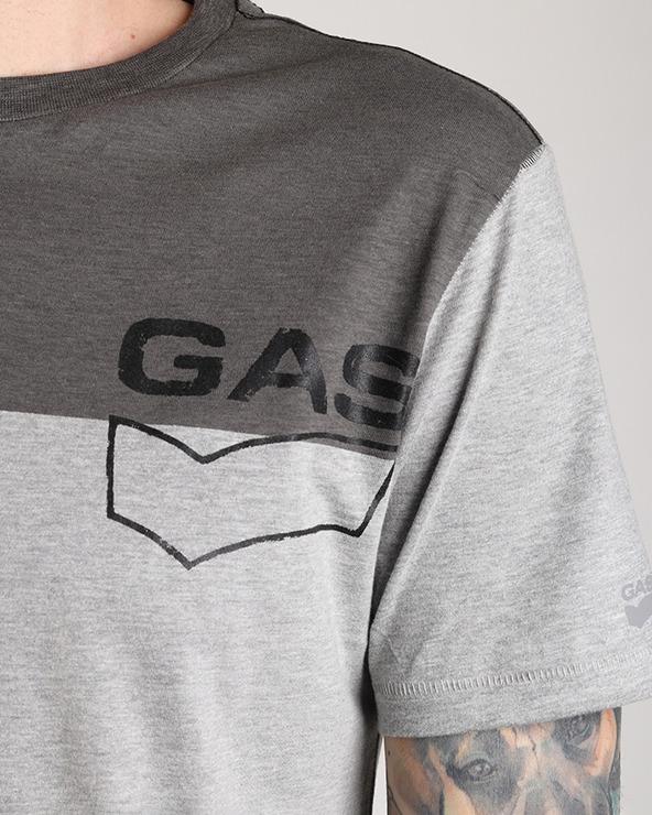 GAS Ysac/R Logo Tričko Šedá Viacfarebná