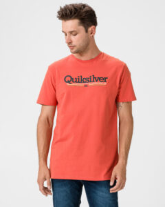Quiksilver Tropical Lines Tričko Červená