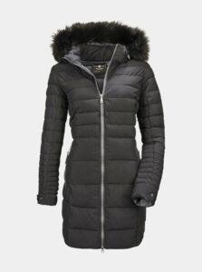 Čierny dámsky prešívaný kabát killtec