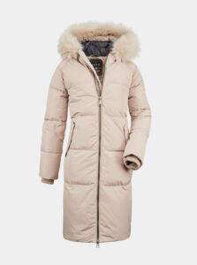 Béžový dámsky prešívaný kabát killtec