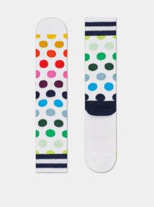 Biele bodkované ponožky Happy Socks Big Dot