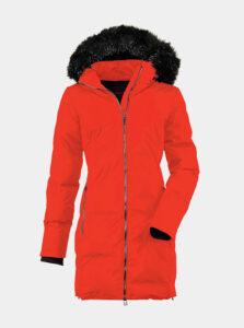 Červený dámsky prešívaný kabát killtec