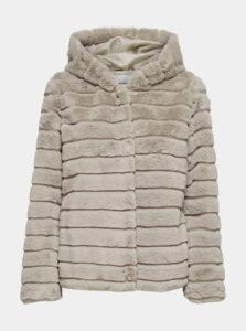 Béžová bunda s umelým kožúškom Jacqueline de Yong Emily