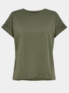 Kaki basic tričko ONLY Silla