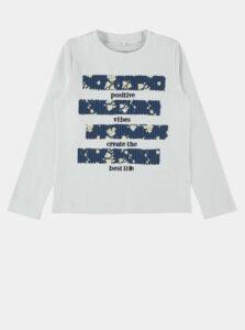 Biele dievčenské tričko name it Family