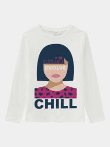 Biele dievčenské tričko name it Vix
