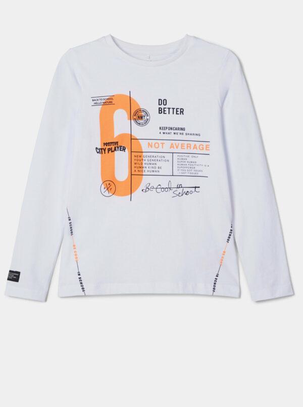 Biele chlapčenské tričko name it Naka