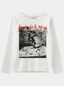 Biele chlapčenské tričko name it Vux