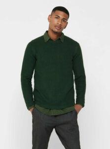 Tmavozelený sveter ONLY & SONS Loocer