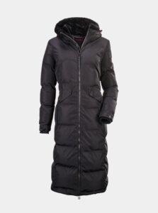 Čierny dámsky dlhý vodeodolný kabát killtec