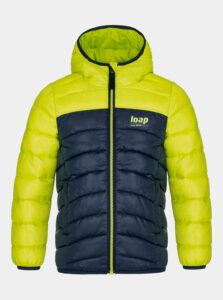 Žltá chlapčenská prešívaná zimná bunda LOAP
