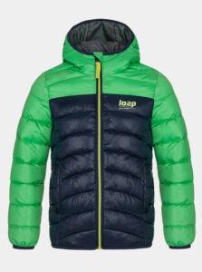 Zelená chlapčenská prešívaná zimná bunda LOAP