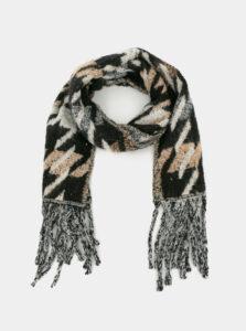 Béžovo-šedý vzorovaný šál Haily´s