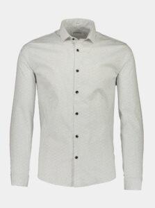 Biela košeľa s drobným vzorom Lindbergh