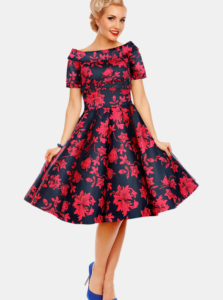 Ružovo-modré kvetované šaty Dolly & Dotty