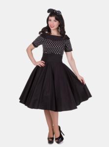 Čierne bodkované šaty Dolly & Dotty Darlene
