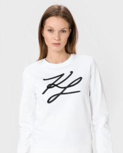 Karl Lagerfeld KL Signature Mikina Biela