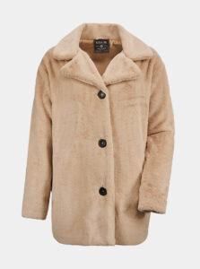 Béžový kabát z umelého kožúšku killtec