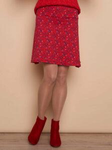 Červená vzorovaná sukňa Tranquillo