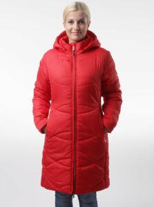 Červený dámsky prešívaný kabát LOAP Talisa