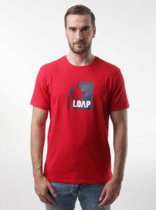 Červené pánske tričko LOAP Alien