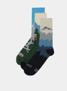 Balenie troch párov unisex ponožiek s motívom Tatier Fusakle Tatry 3