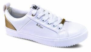 Lee Cooper biele tenisky White/Gold