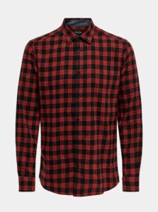 Červená flanelová košeľa ONLY & SONS