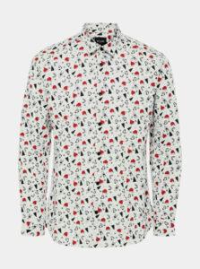 Biela košeľa s vianočným motívom ONLY & SONS Xmas