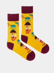 Žlté vzorované ponožky Fusakle Liška