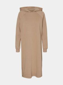 Béžové mikinové šaty Noisy May Helene