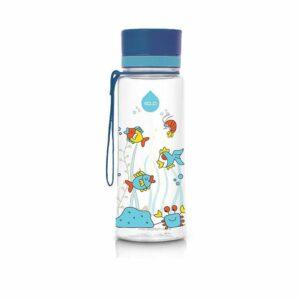 Modrá plastová fľaša Equa