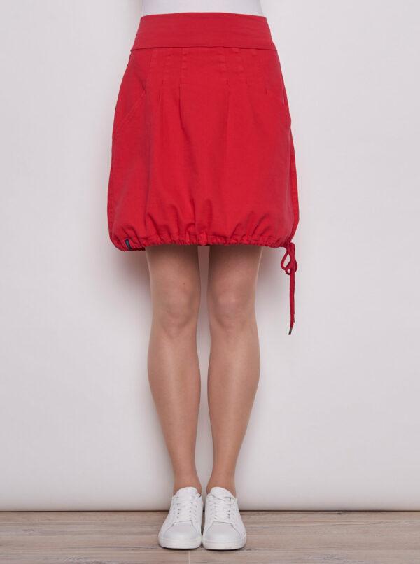 Červená balonová sukňa Tranquillo