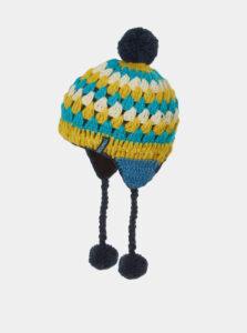 Žlto-modrá dámska vlnená čiapka Tranquillo