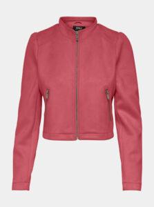 Ružová bunda v semišovej úprave ONLY