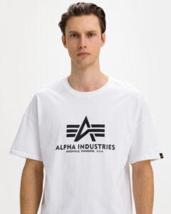 Alpha Industries Basic Tričko Biela
