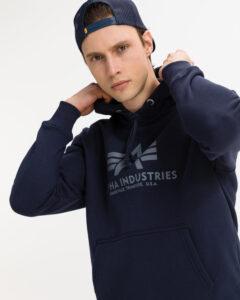 Alpha Industries Basic Mikina Modrá