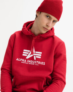 Alpha Industries Basic Mikina Červená