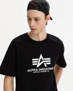 Alpha Industries Basic Tričko Čierna