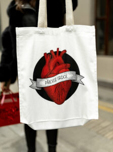 Biela plátená taška ZOOT Original Prevoz srdca