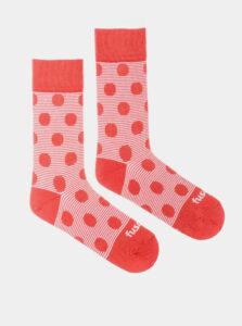 Ružové bodkované ponožky Fusakle Chamaleon