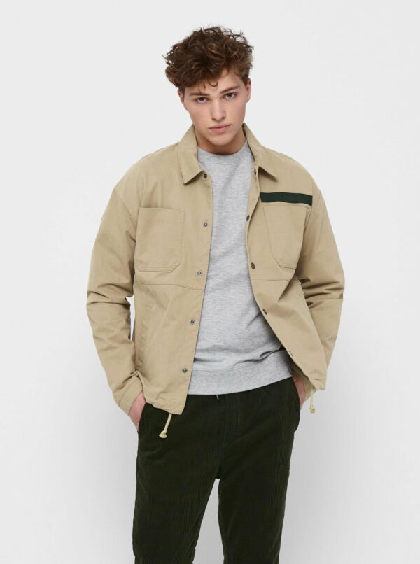 Béžová ľahká bunda ONLY & SONS Jackson