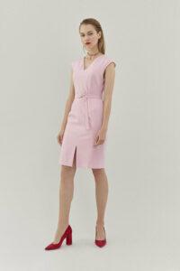 Pietro Filipi svetlo ružové šaty s opaskom